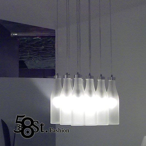 【58街】設計師款式「Droog Milkbottle Milk bottle 牛奶瓶吊燈,12燈」複刻版。GH-148