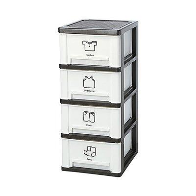 315百貨~聯府 FV408 亞士都四層櫃(附輪)-白   /  整理櫃 塑膠收納櫃 置物衣櫃