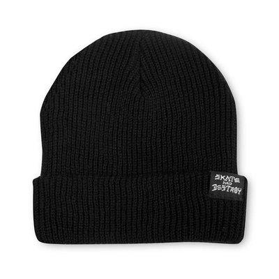 [CABAS滑板店] THRASHER SKATE AND DESTROY BEANIE 黑│毛帽 滑板 品牌