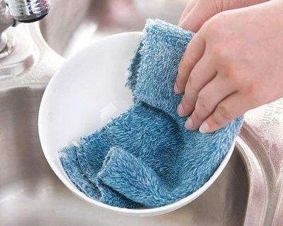 不沾油毛巾洗碗布【SG433】 25X25CM纖維抹布 超柔軟洗碗巾不沾油抹布 炫彩洗碗布 多功能植物纖維百潔布 柔軟擦 台東縣