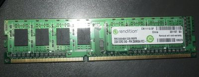美光Rendition終保2G DDR3-1333 2GB RM25664BA1339.M8FR桌機記憶體RAM終身保固