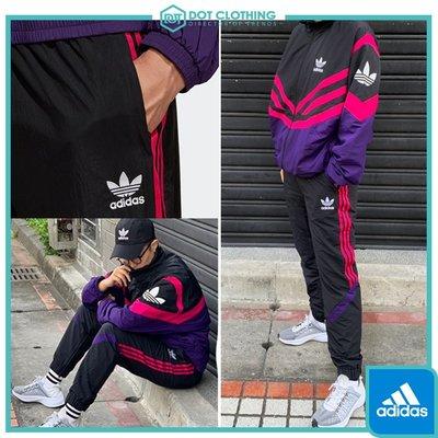 DOT 聚點 Adidas Originals 愛迪達 EQT 防風 復古 黑紅 三條 運動長褲 男款 EJ0951