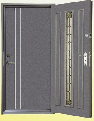 [廣山門窗] FM-06 雙玄關門(鍛造門 鑄鋁鋼木門 白鐵門 硫化銅門 防火門 三合一門)