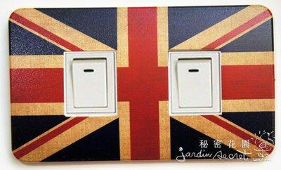 開關蓋/英國國旗開關面板/電源開關罩/插座蓋/插座蓋板/單孔/雙孔/三孔--秘密花園
