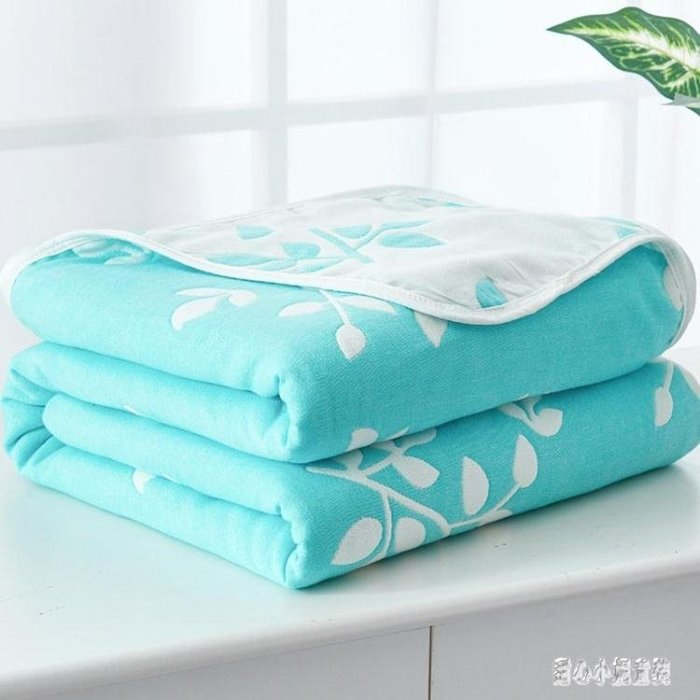 可開發票-純棉6層紗布毛巾被90*100cm兒童夏涼被幼兒園1.2m薄蓋毯2「花語夢」