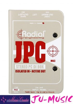 造韻樂器音響- JU-MUSIC - Radial JPC Computer Direct DI  『公司貨,免運費』