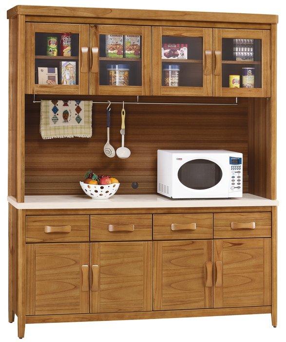 *SA277-1*柚木5.4尺碗櫃組/大台北地區/系統家具/沙發/床墊/茶几/高低櫃/1元起