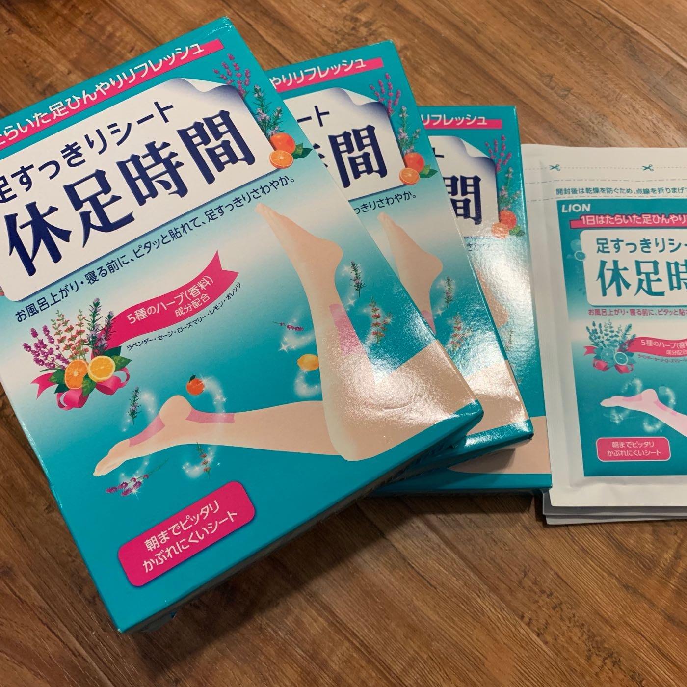 修足時間ㄧ盒裝18入(共2盒)和零售一包6入共3包)總共54片  日本🇯🇵自行帶回(現貨)