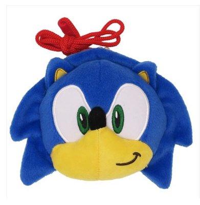 (現貨) 約高13cm 碎紙包 拍鈕扣 公仔頭形 連頸繩 超音鼠 音速小子 SEGA  Sonic The Hedgehog 日本直送 全新品