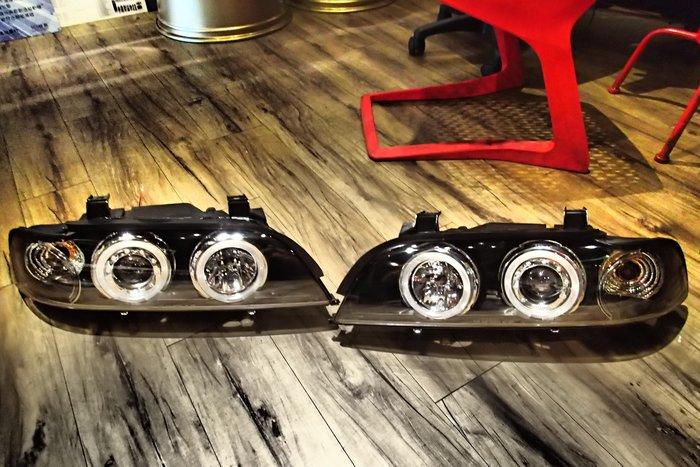 DJD20052017 全新 BMW E39 外銷 限量版 晶鑽 光圈 魚眼 大燈 e39大燈 頭燈