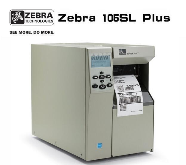 Zebra 105SL plus 300DPI 工業級不乾膠條碼印表機 41