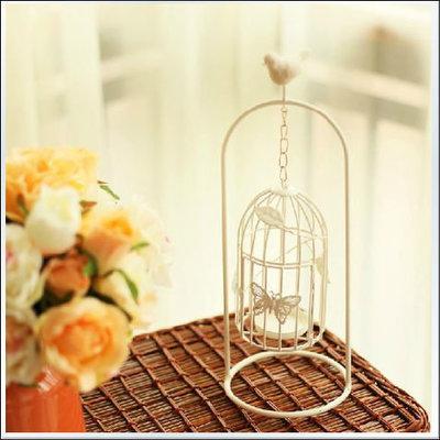 燭台 燭臺 鳥籠 蠟燭 小鳥 資材 花園庭院佈置 桌上燭台 擺飾 室內 裝潢 拍攝道具