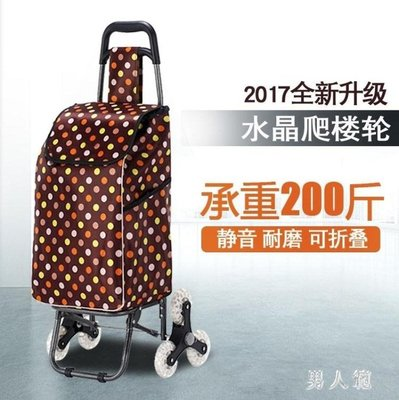 菜籃車小拉車可折疊爬樓梯手拉家用便攜菜籃手推拉桿拖車 yu3087