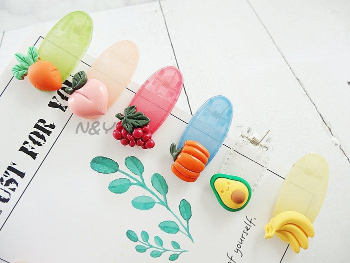 【現貨】韓版ins風果凍色水果髮夾邊夾兒童髮夾BB夾鴨嘴夾☆【N&Y】HR12