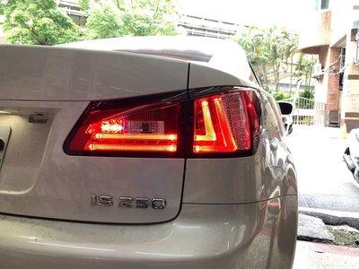 新店【阿勇的店】凌志 IS250 紅白晶鑽光導LED式尾燈 LEXUS IS250 尾燈 有後霧燈