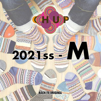 BTO 日本【CHUP】M號 2021春夏長襪 Hand Linking 傳統製法民族風精品襪