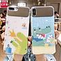 夏日清新小恐龍iPhoneX手機殼Xr蘋果XsMax補...