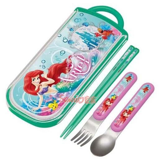《東京家族》迪士尼 小美人魚 餐具組 (盒內含筷子+湯匙+叉子)