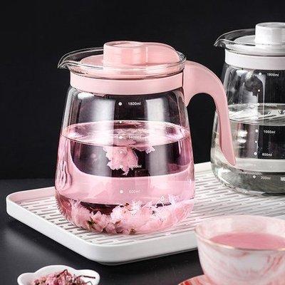 ☜男神閣☞北歐玻璃水壺果汁壺涼白開水壺耐熱高溫冷水壺涼水壺泡茶壺