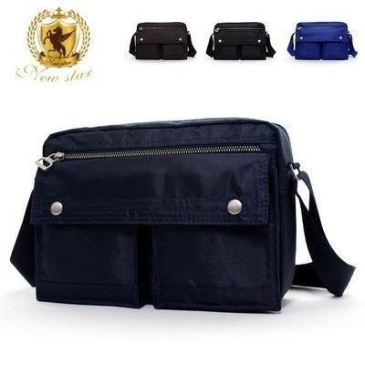 日系雙口袋雙層側背包斜背包包 porter風 NEW STAR BL49