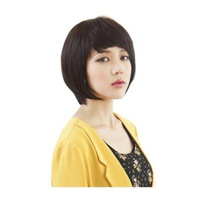 整頂 假髮 真髮絲-斜瀏海內彎短髮大方女假髮73vc5[獨家進口][米蘭精品]