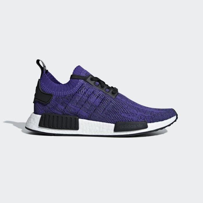 【Cheers】Adidas NMD R1 PK 套襪 紫色 編織 歐美限定 男女鞋 B37627