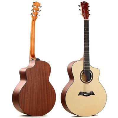 ☆唐尼樂器︵☆ Deviser LS-120N-40 40吋 雲杉木合板 木吉他 JF 桶身 缺角 民謠吉他