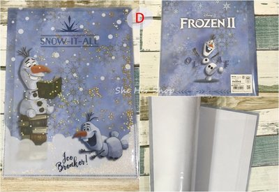 【現貨】日本製 迪士尼 Frozen 冰雪奇緣 雙層 A4資料夾