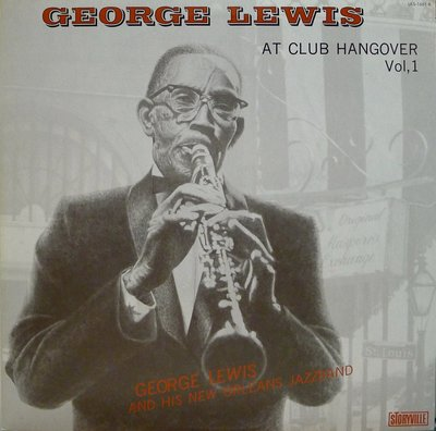 §小宋唱片§日版見本盤/George Lewis-At Club Hangover vol.1/二手爵士黑膠/MONO