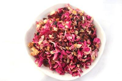 玫瑰水果茶 玫瑰果乾果粒茶 歐洲果粒茶 綜合果乾茶 水果茶 下午茶 300公克180元 【全健健康生活館】