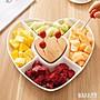 創意水果盤家用簡約果盤零食盤分格沙拉盤客...