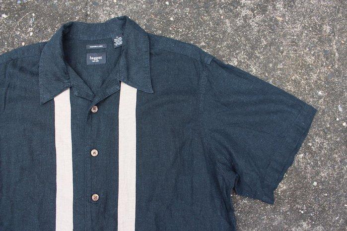 「蔣柒」日本帶回 haggar Vintage 古著 復古襯衫 雙線襯衫 保齡球襯衫 XL號 現貨 #323