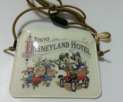 ***日本帶回***東京迪士尼樂園飯店Disneyland Hotel 識別證 捷運卡背帶零錢包 ♪☆♪