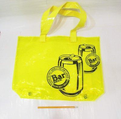 全新 ,麒麟  BAR BEER 透明塑膠防水提袋,夏日戲水袋,海灘包