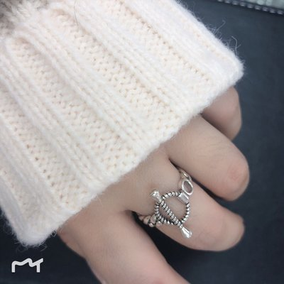 酷酷的純銀戒指