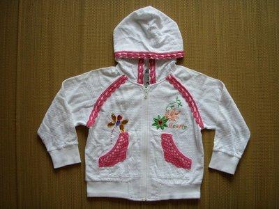 專櫃童裝[Hearty]女童連帽長袖棉質外套(編號0138)~100CM