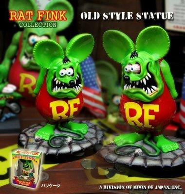 (I LOVE樂多)RAT FINK RF老鼠芬克OLD STYLE STATUE公仔(絕版品)