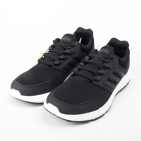 ADIDAS 愛迪達 男 GALAXY 4 慢跑鞋-黑/白 F36163  現貨