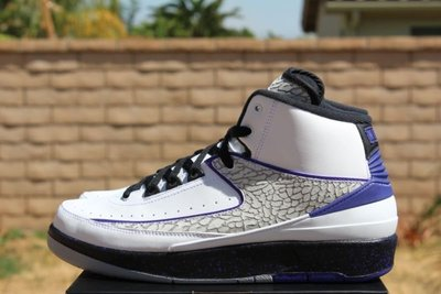 Nike Jordan 2 retro BG Concord 395718-153白黑紫爆裂紋GS大童鞋女鞋AJ-2