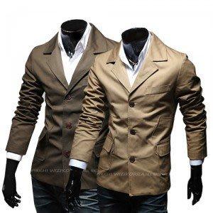yes99buy加盟-2014秋裝새로운 男士韓味個性時尚多口袋設計百搭修身夾克 外套