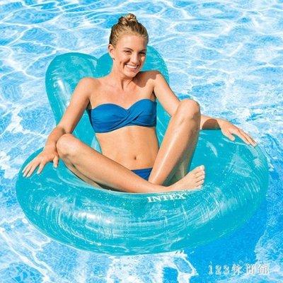 游泳浮床 度假游泳圈成人坐圈座圈浮排躺椅水上充氣浮床救生圈游泳裝備LB16273【全館免運】