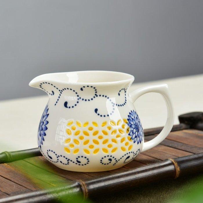 SX千貨鋪-陶瓷青花玲瓏鏤空公道杯茶海公杯分茶器功夫茶具茶道配件#玻璃杯#酒杯#水杯#茶杯#杯子套裝
