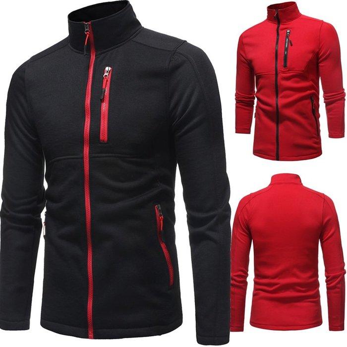 『X-男人館』 WS12 新款個性設計棉質立領外套 男士休閒修身開衫 衛衣 夾克NRG3039