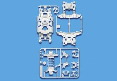 進口正品田宮四驅車配件 MS-L輕量化白色強化底盤 95246 日制現貨