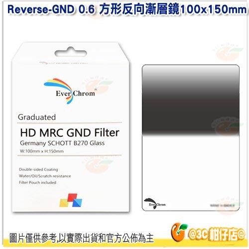 內附磁鐵框 EverChrom Reverse-GND 0.6 100×150mm 方形反向漸層鏡 公司貨