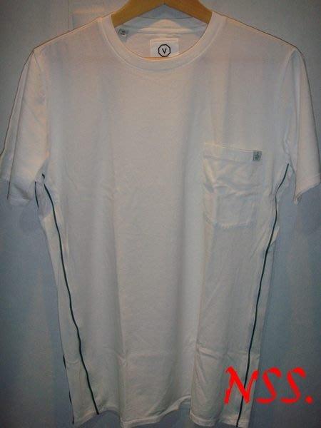 【NSS】VISVIM 白色 口袋 短T S號