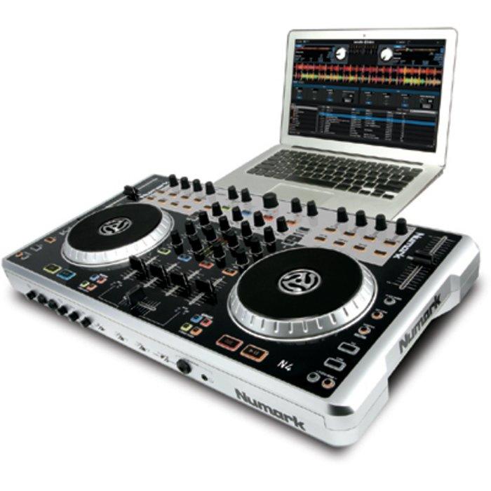 出清 全新展示機 Numark DJ MIDI控制器 N4 四平台控制器混音座 pioneer ddj serato