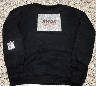 正品 SWAG 爆裂紋 帽T 嘻哈 饒舌 HIP HOP 黑白灰3色 尺寸S~3XL
