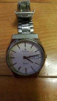 鐵力士TELUX二手石英零件錶(清洗完應該可以便用)