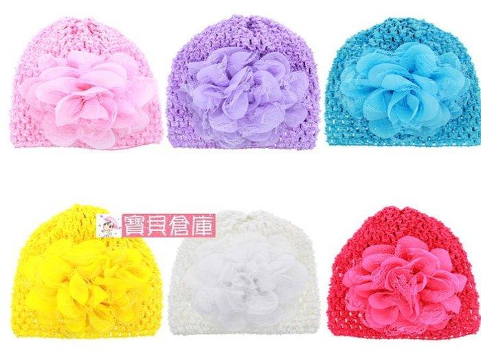 寶貝倉庫~韓款~嬰兒立體花洞洞帽~寶寶透氣帽子~公主套帽帽~時尚女童帽~拍照必備~6色可選